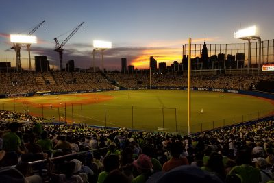 The incredible view on a Maction Planet Tokyo Baseball Tour