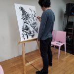 Shinji Nishikawa Live Drawing featured in Maction Planet's interview with Yoshi Majima