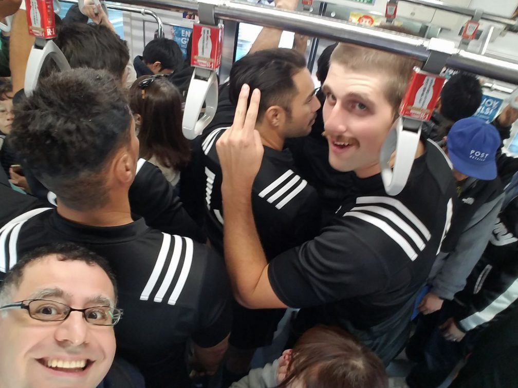 Bumping into the All Blacks in Tokyo on the way to give a Maction Planet Iconic Tokyo Tour