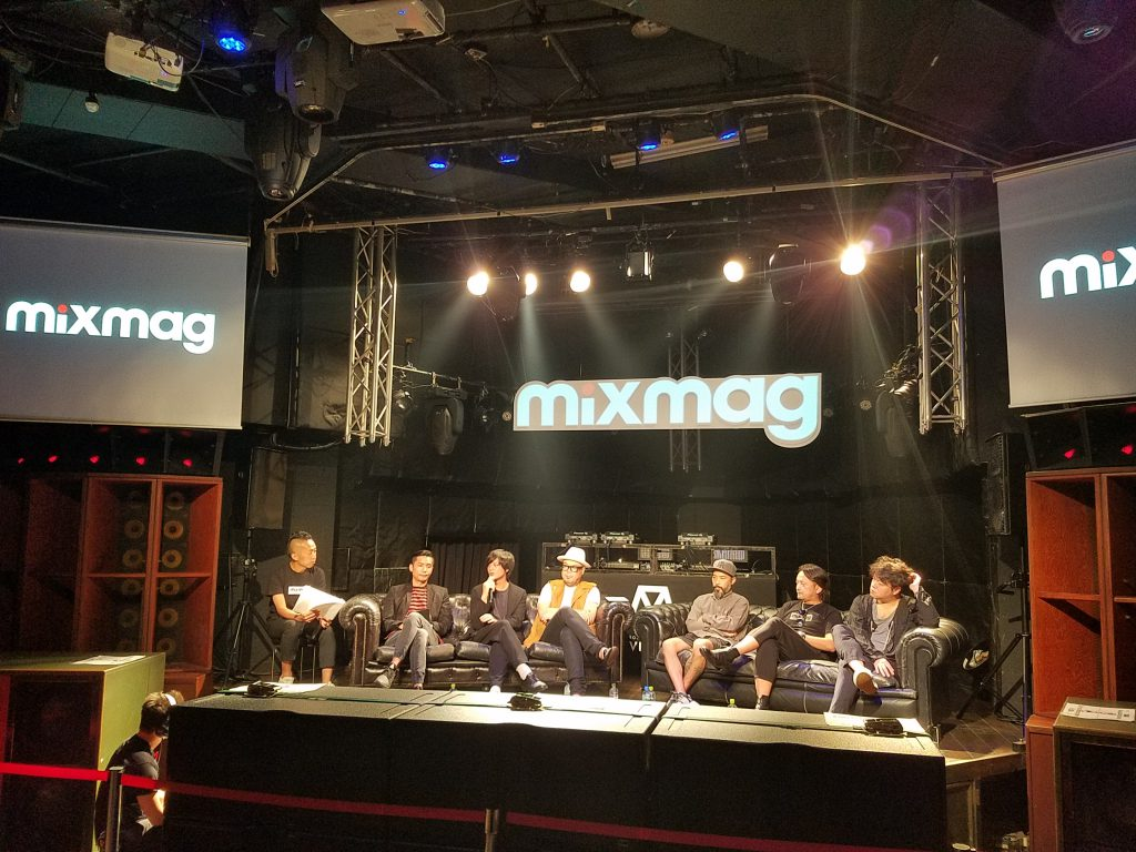 Mixmag Japan Launch Press After Party Talk show on a Maction Planet Tokyo Private Tour
