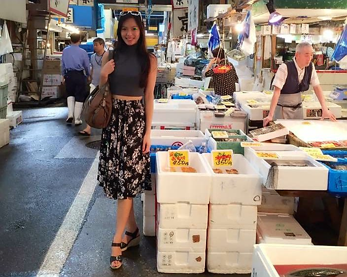 Rachel Leng at Tsukiji, visited on out Tokyo Food Tours
