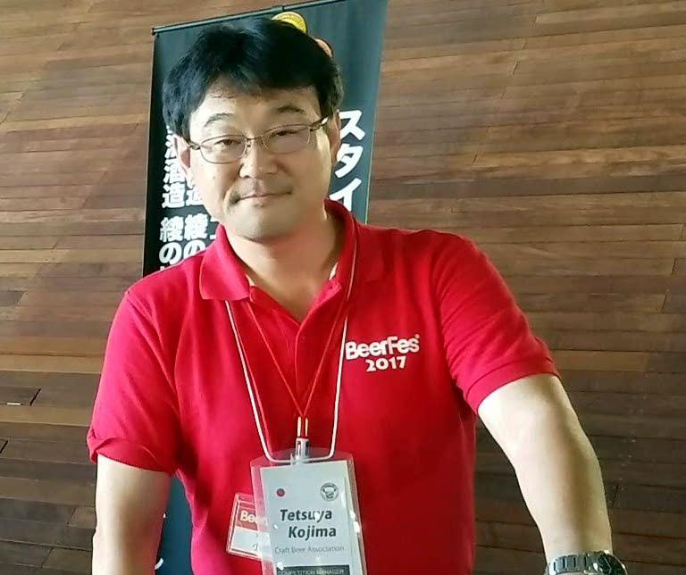 Tetsuya Kojima at BeerFes Yokohama 2017 on a Tokyo Craft Beer Tour