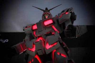 RX-O Unicorn Gundam as seen on a Maction Planet Tokyo Otaku Tour in Akihabara, Nakano and Odaiba