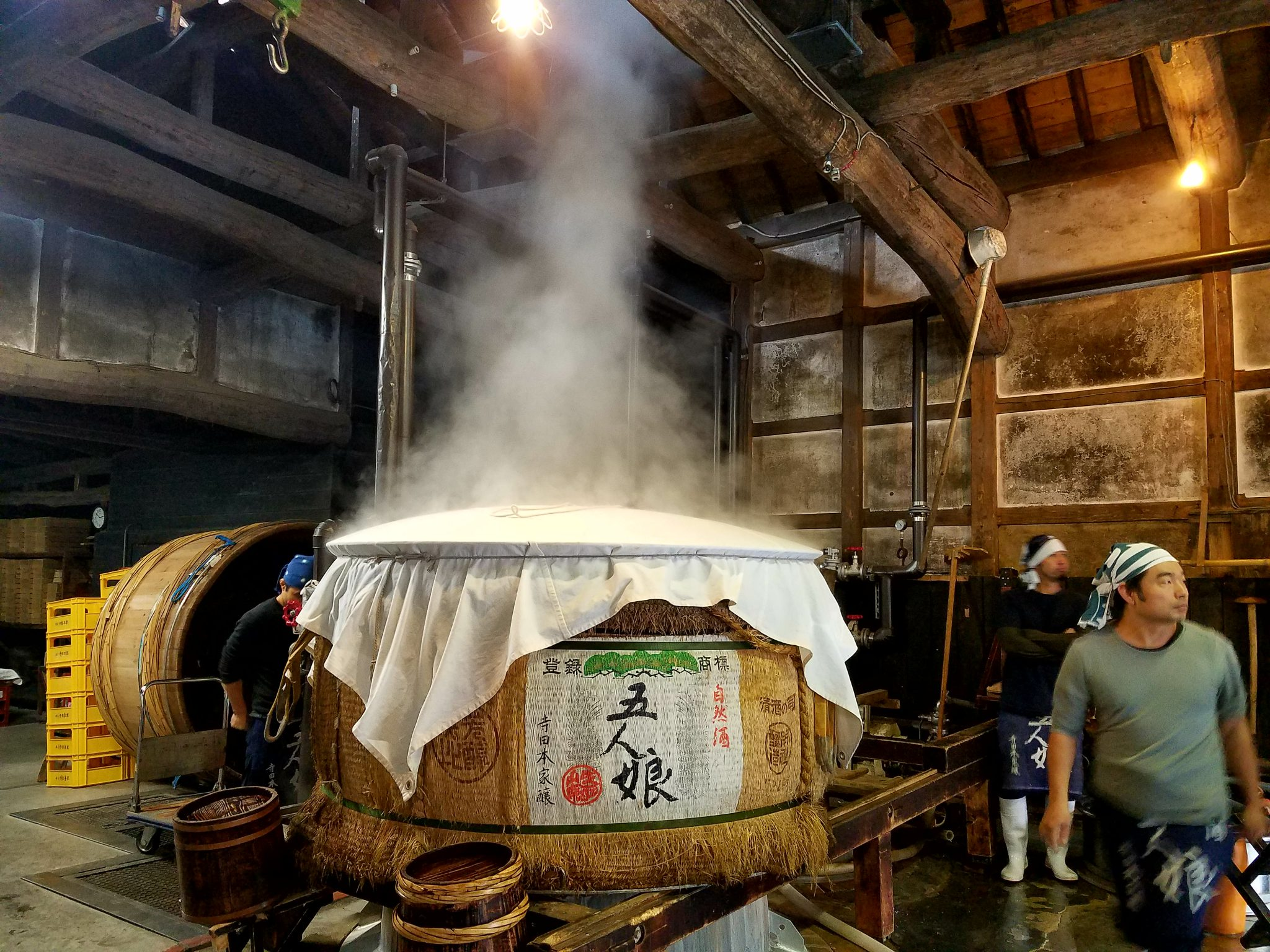 Sake preparation vat seen on a Tokyo Sake Shikomi Tour with Maction Planet