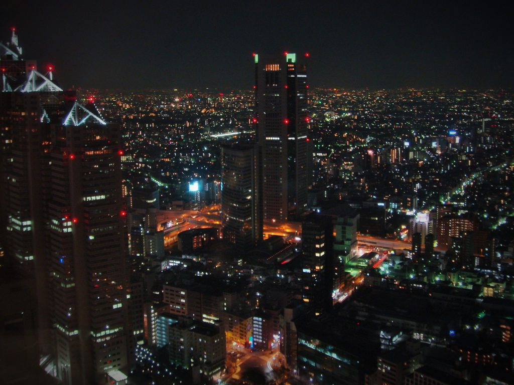 Tokyo at Night seen on a Maction Planet Tokyo Private Tour