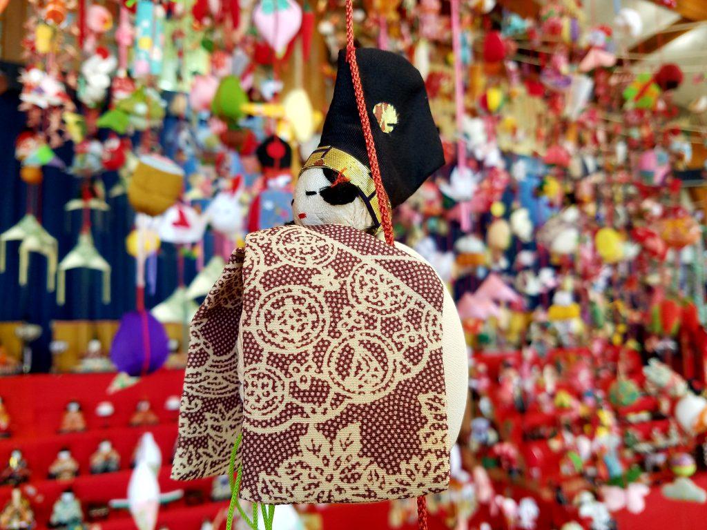 Hina Matsuri tsurushi bina Emperor seen on a Maction Planet Tokyo Private Tour