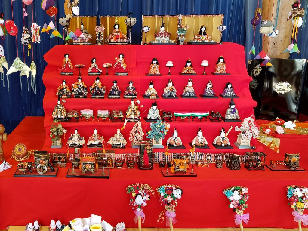 Traditional hina matsuri hinadan seen on Maction Planet Tokyo Private Tour