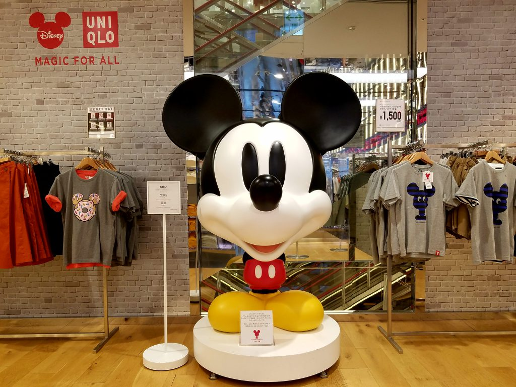 Mickey 100 Project at Uniqlo Ginza seen on a Maction Planet Tokyo Private Tour