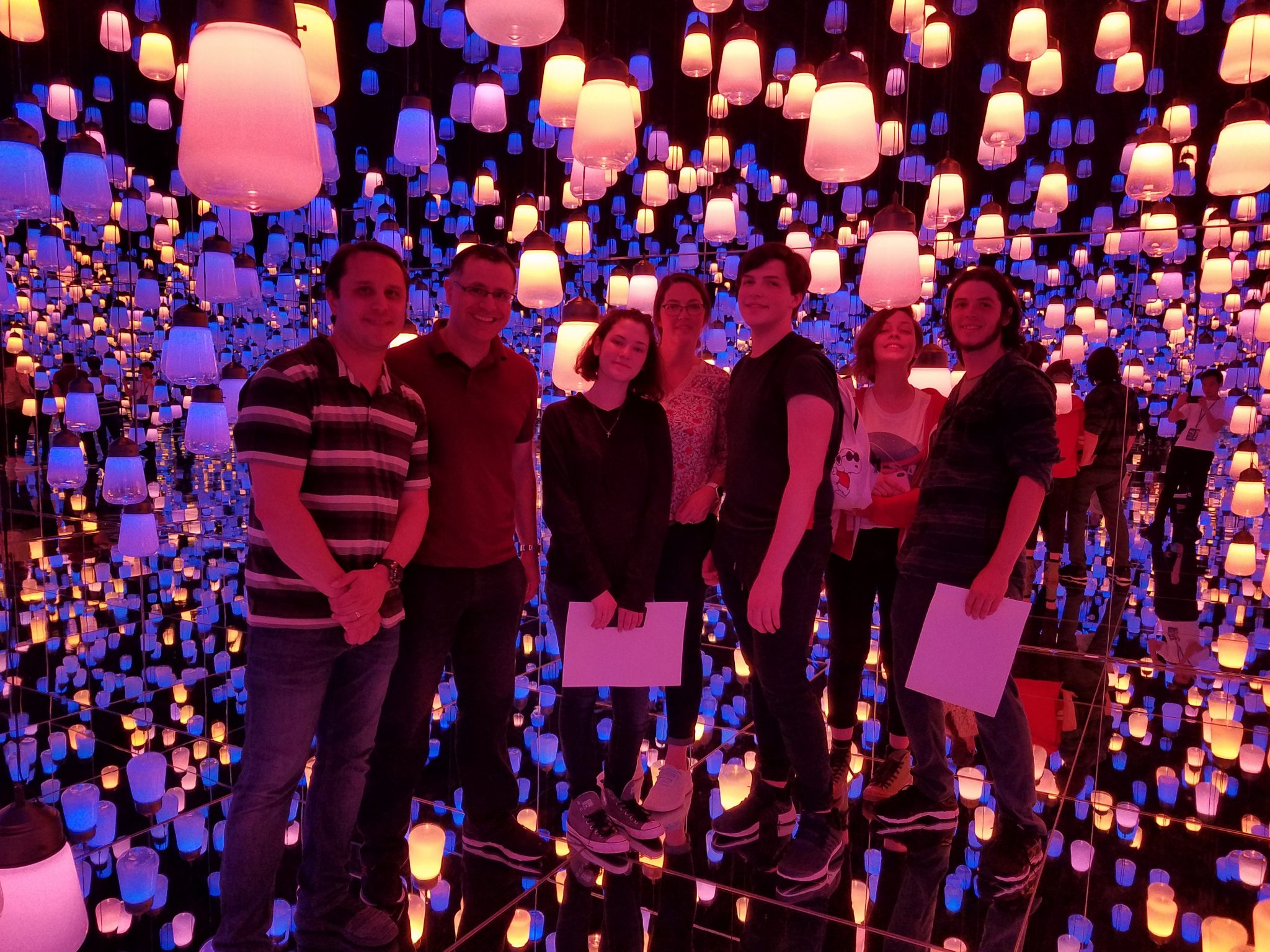 Maction Planet guests at teamLab Borderless on a Tokyo Private Tour
