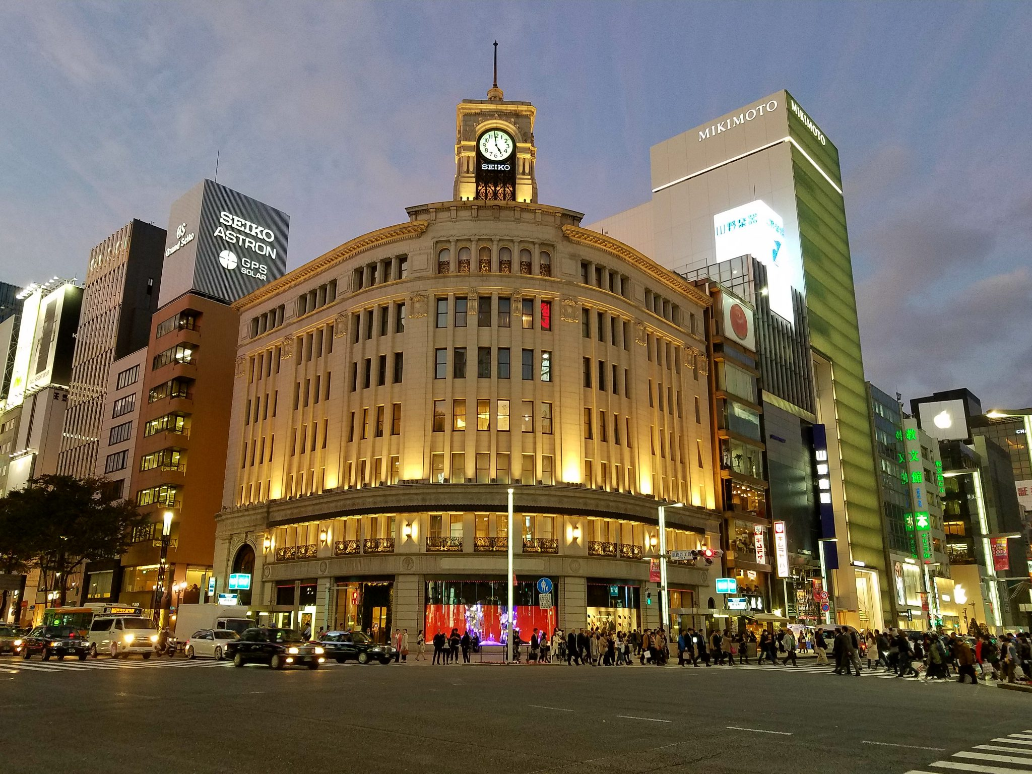 Wako Department Store in Ginza, Tokyo seen on a Maction Planet Tokyo Private Tour