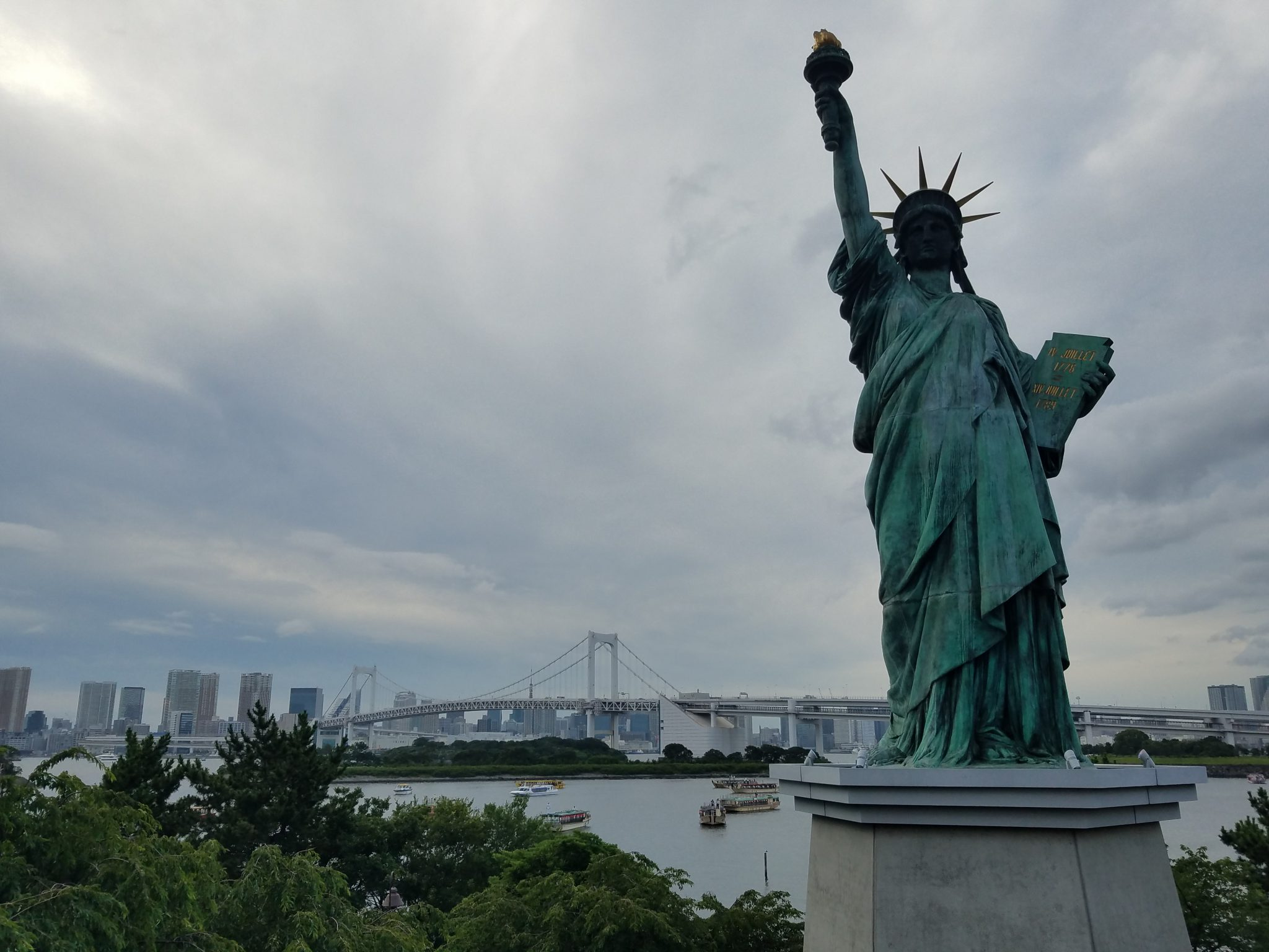 Statue of Liberty Odaiba seen on a Maction Planet Tokyo Private Tour