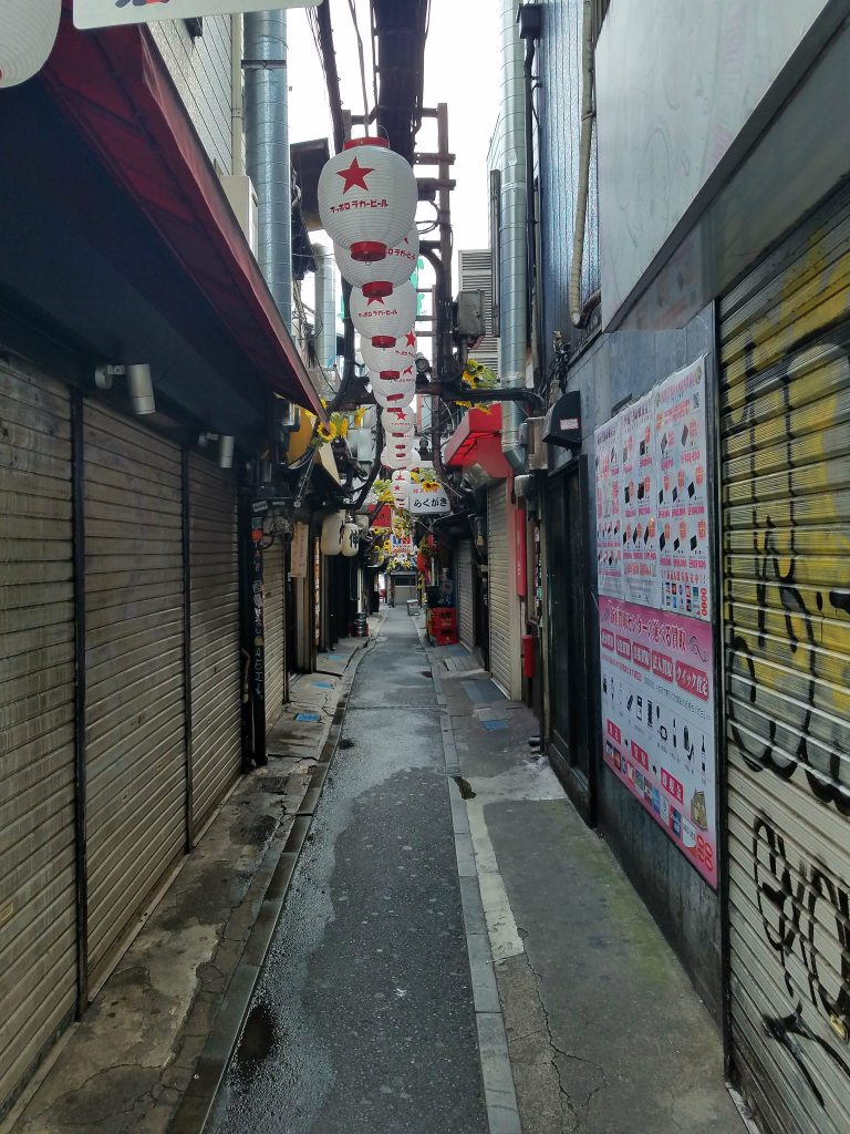 Omoide Yokocho at 7am seen by Mac on the way to pick up guests for a Tokyo Private Tour