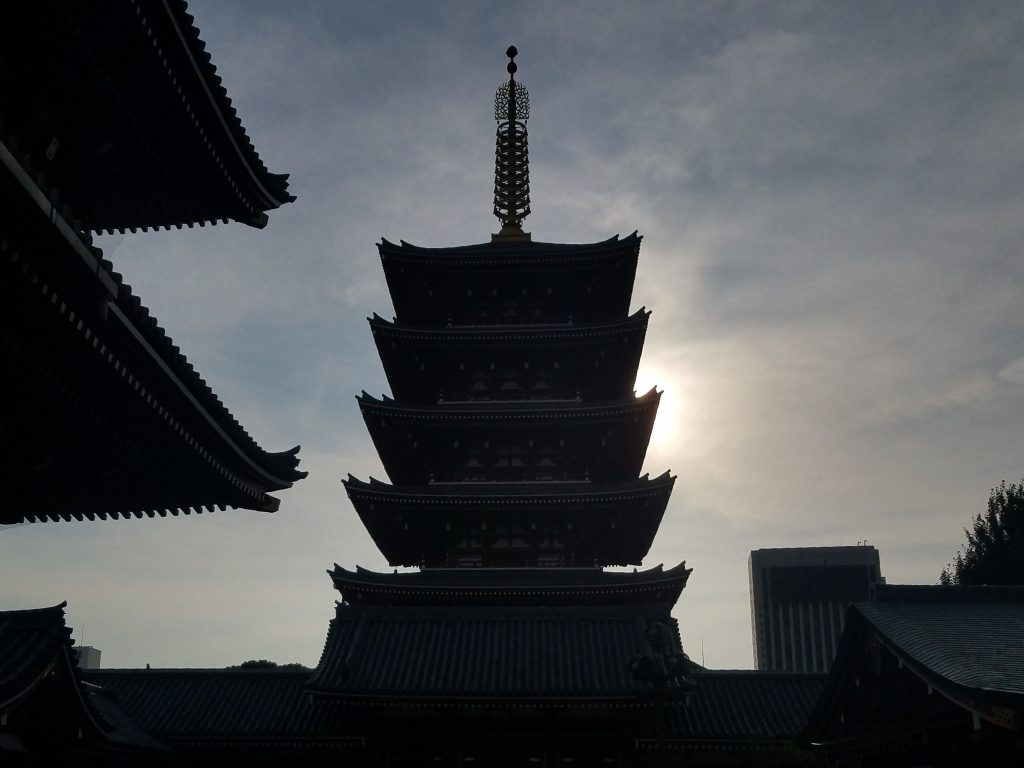 Sunset At Sensoji seen on a Tokyo Private Tour