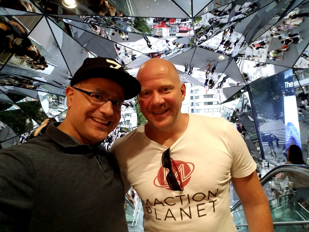Ben with Mac, Founder and Lead Guide of Maction Planet at Tokyu Plaza in Omohara