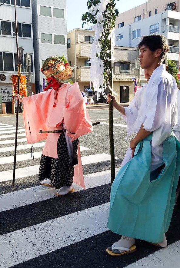 Even Tengu need some time off at the Kameido Tenjin Matsuri