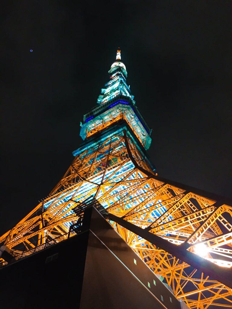 Tokyo Tower seen on a Maction Planet Tokyo Private Tour