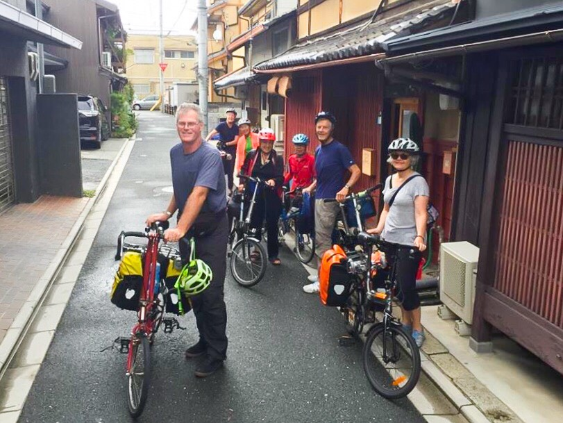 Japan Folding Bike Tours at Oil Street Guesthouse