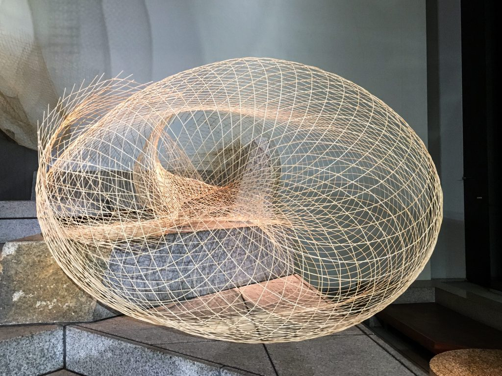 「Visible / Invisible」- Installation art with ten thousand thin bamboo strips by Kosen Yamada - seen on a Maction Planet Tokyo Photography Tour