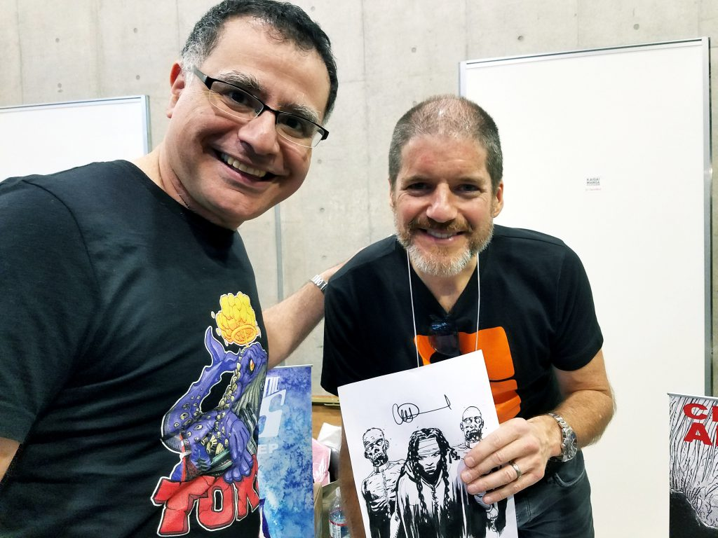 Charlie Adlard and Mac at Kaiga Manga Festa 2018