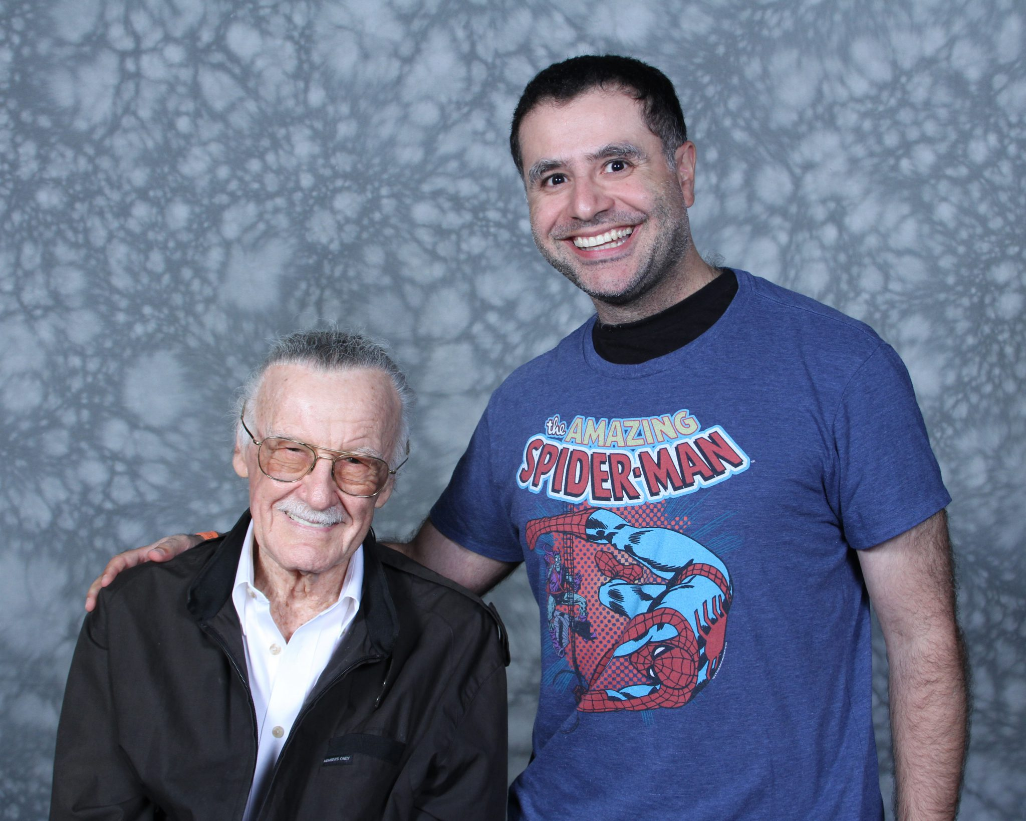 Stan Lee with Mac, Founder and Lead Guide of Maction Planet