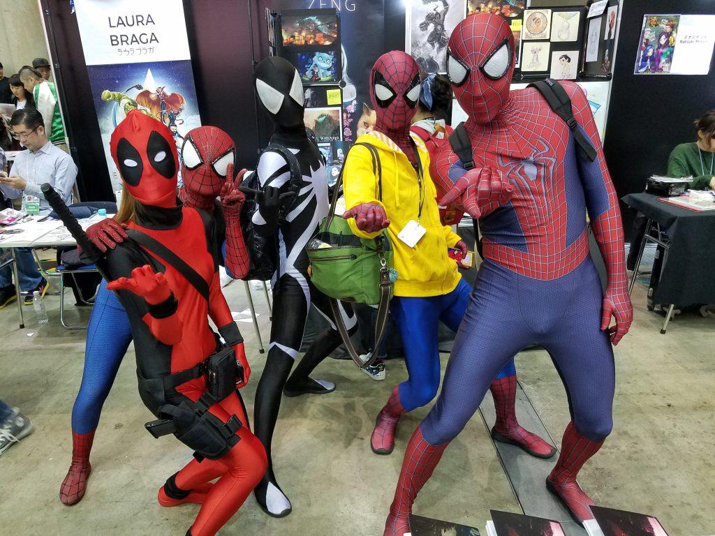 Spider-men: 2018 Tokyo Comic Con Cosplay