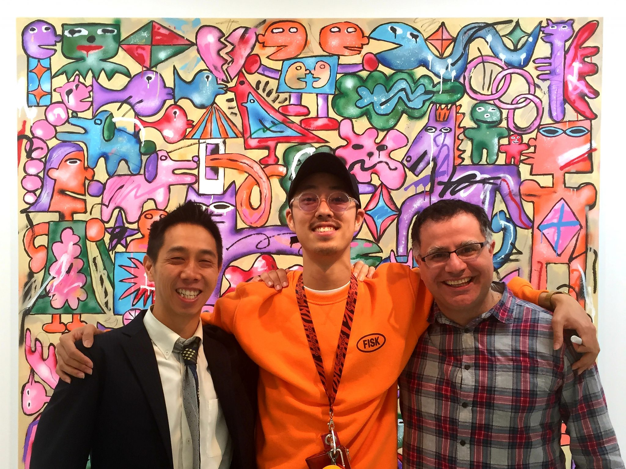 Mac, Founder of Maction Planet and Maction Planet Resident DJ Royce Leong with Okawara Kentaro