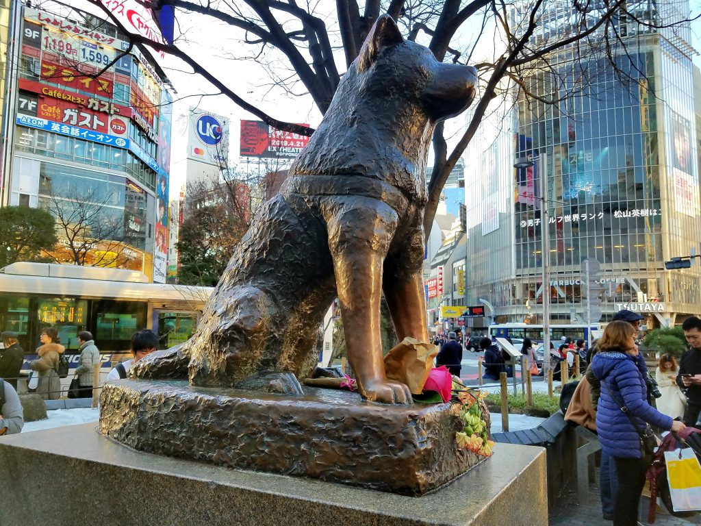 Hachiko remembers the victims of the Great East Japan Earthquake