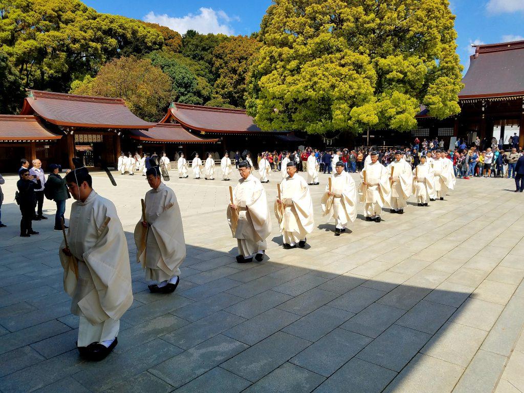 Meiji Jingu Shrine festival on 18 April 2019