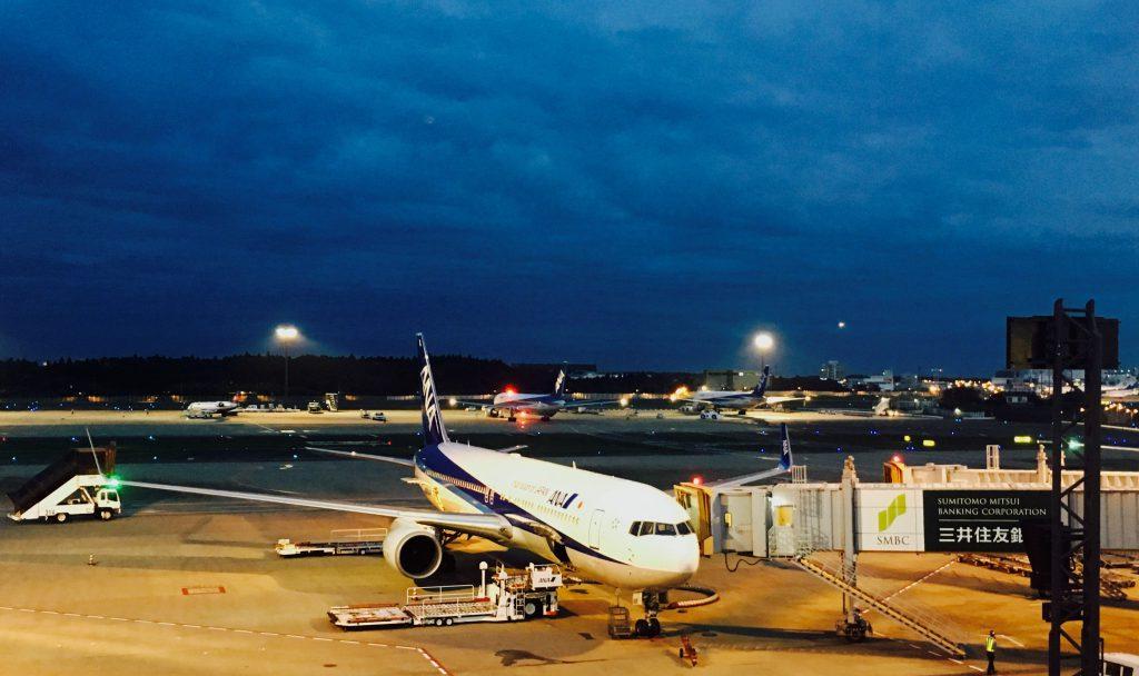 ANA plane landing at Narita Airport. Photo: Yayu Wang/Yayaland Studio