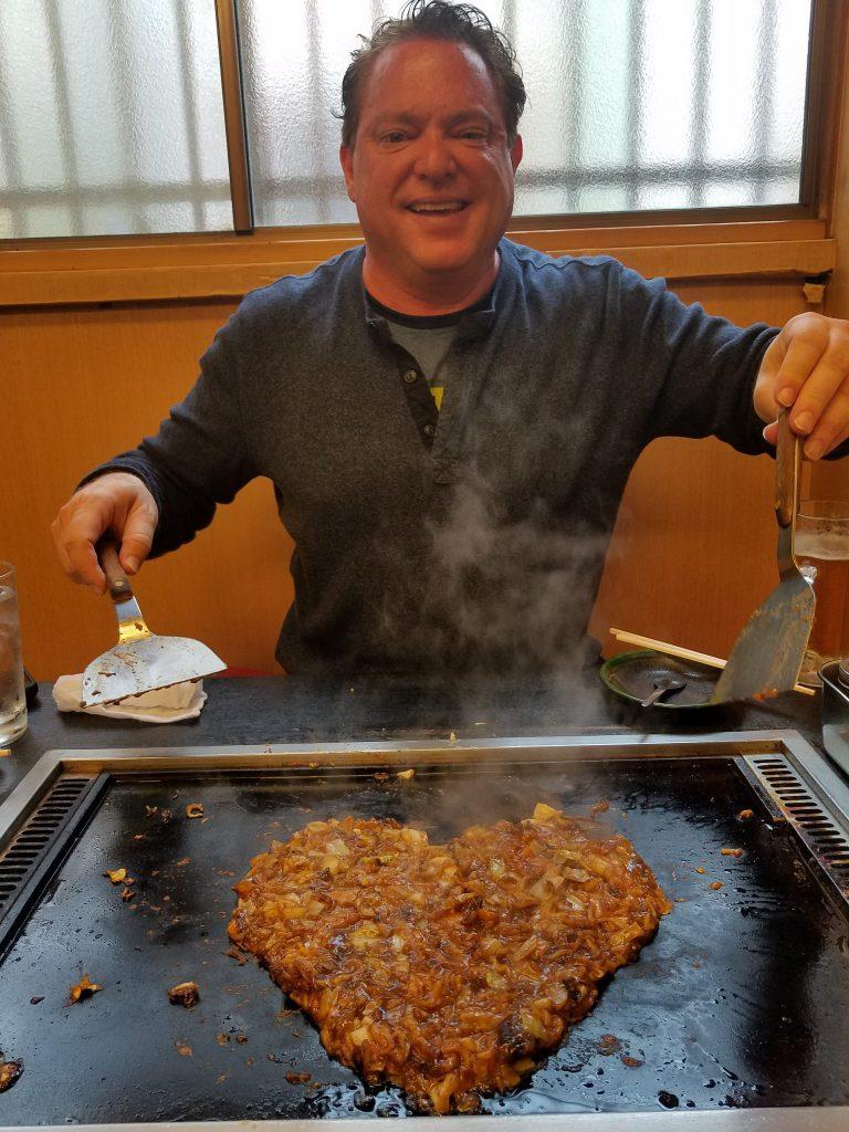 Ira Baer making monjayaki