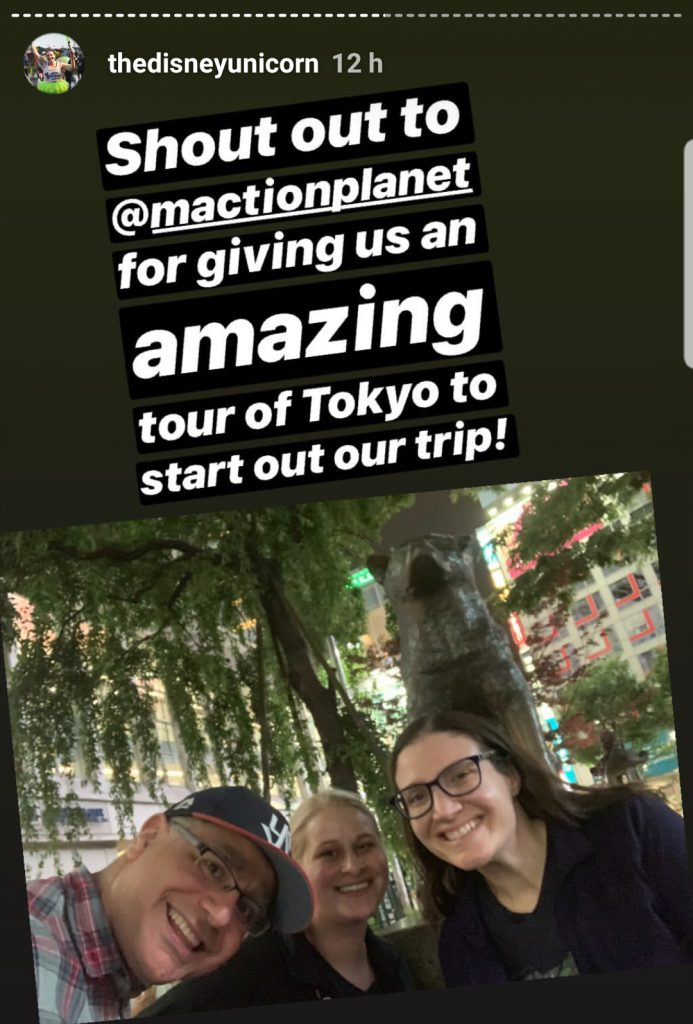 Kathleen, Mallory and Mac visit Hachiko on a Maction Planet Tokyo Private Tour