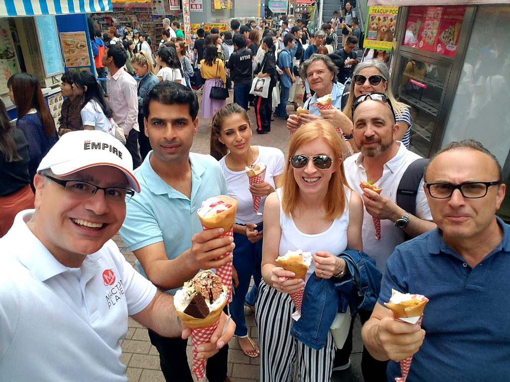 Empire Communities from Toronto and their agents enjoy Marion Crepes in Harajuku