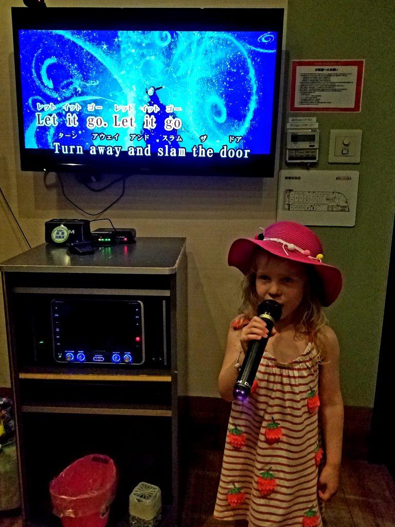 Lily sings 'Let it Go' in Karaoke