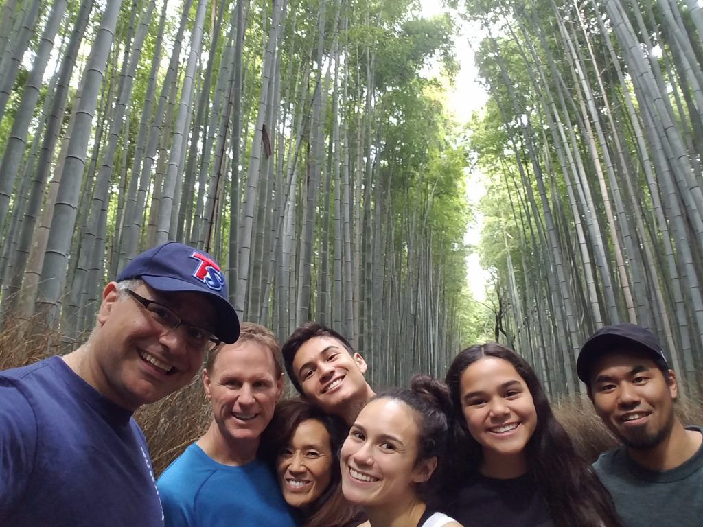 LA(M) Train: The Bradford Family and Mac of Maction Planet at the Bamboo Forest in Arashiyama in Kyoto