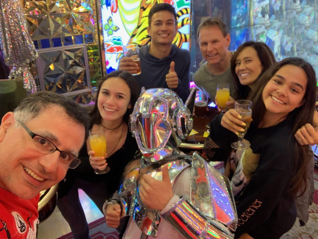 LA(M) Train: The Bradford Family and Mac of Maction Planet at the Robot Restaurant Robot Show in Tokyo