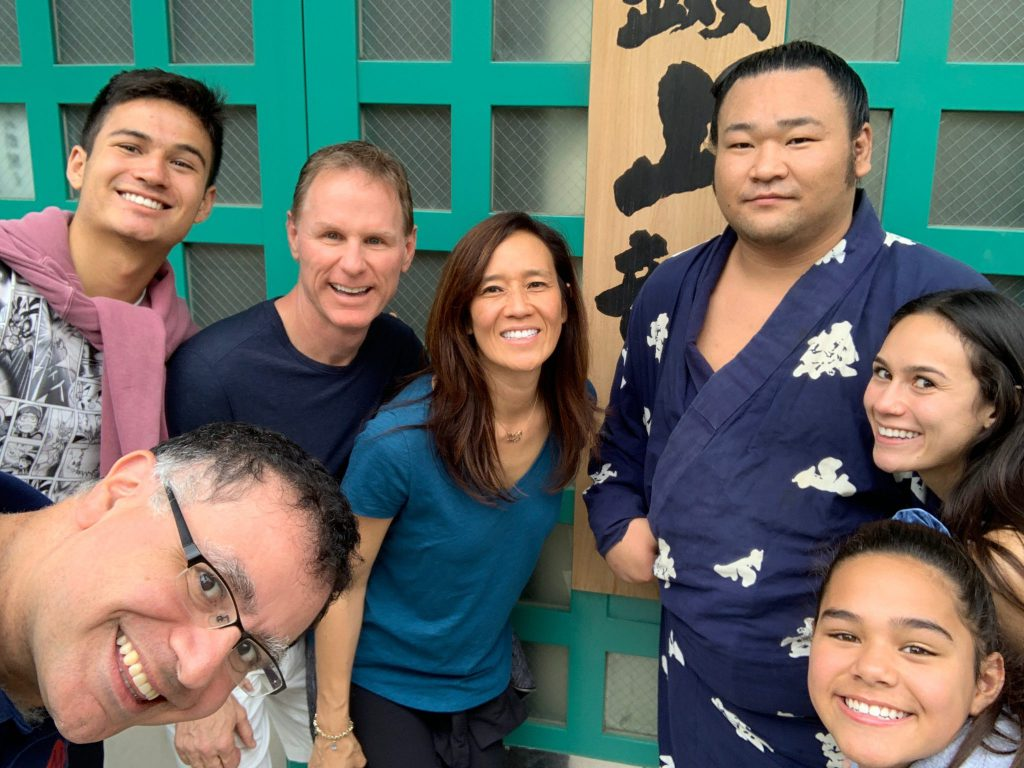 LA(M) Train: The Bradford Family and Mac of Maction Planet at Sumo Training in Tokyo