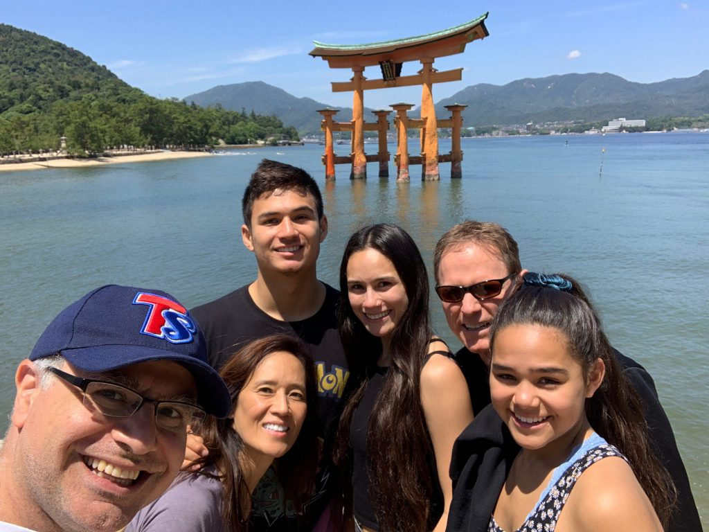 LA(M) Train: The Bradford Family and Mac of Maction Planet in Miyajima in Hiroshima