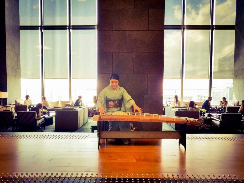 Koto Klassics: Koto player in Aman Tokyo Hotel lobby
