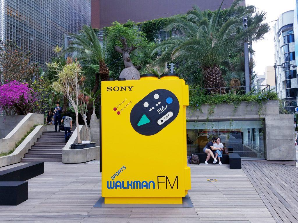 40th anniversary Sports Walkman at Sony Park Ginza