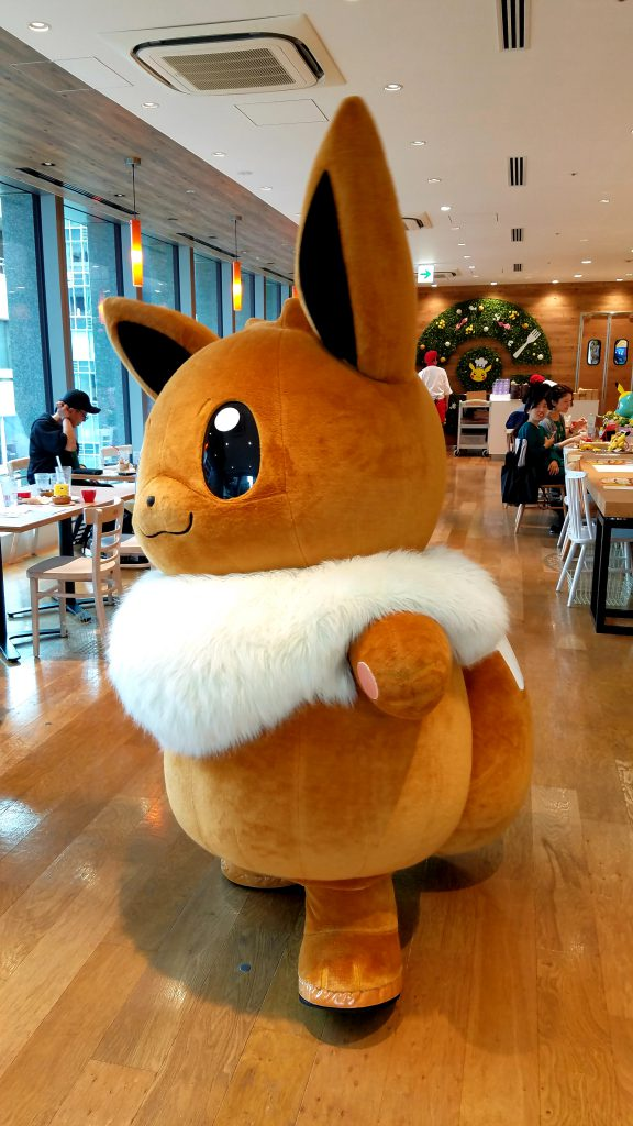 Evee at the Pokemon Cafe