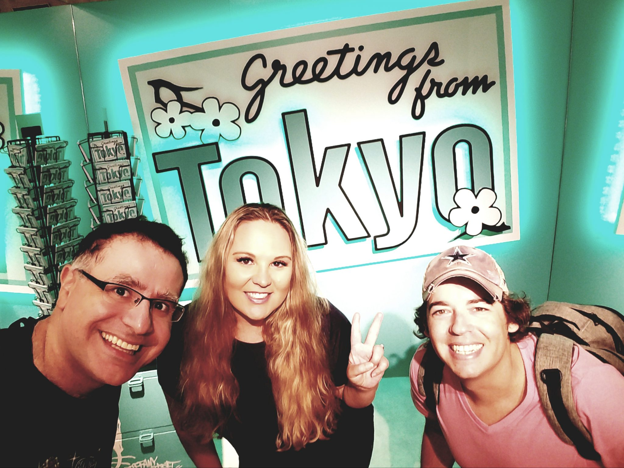 Mac, Marci and Ryan at Tiffany Cafe in Tokyo