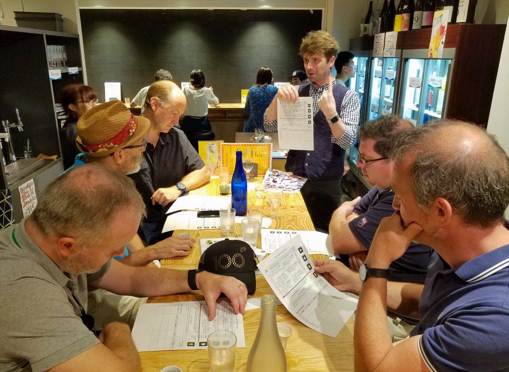 Chris Pelligrini leads a Tokyo Sake Tasting