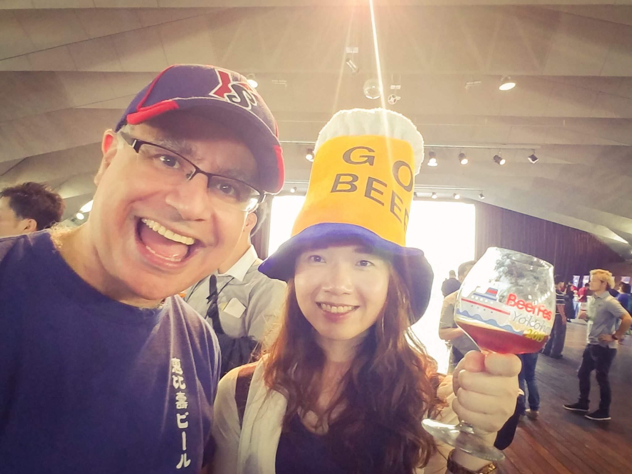Mac, Founder and Lead Guide of Maction Planet, with Beer-loving friends at BeerFes Yokohama 2019