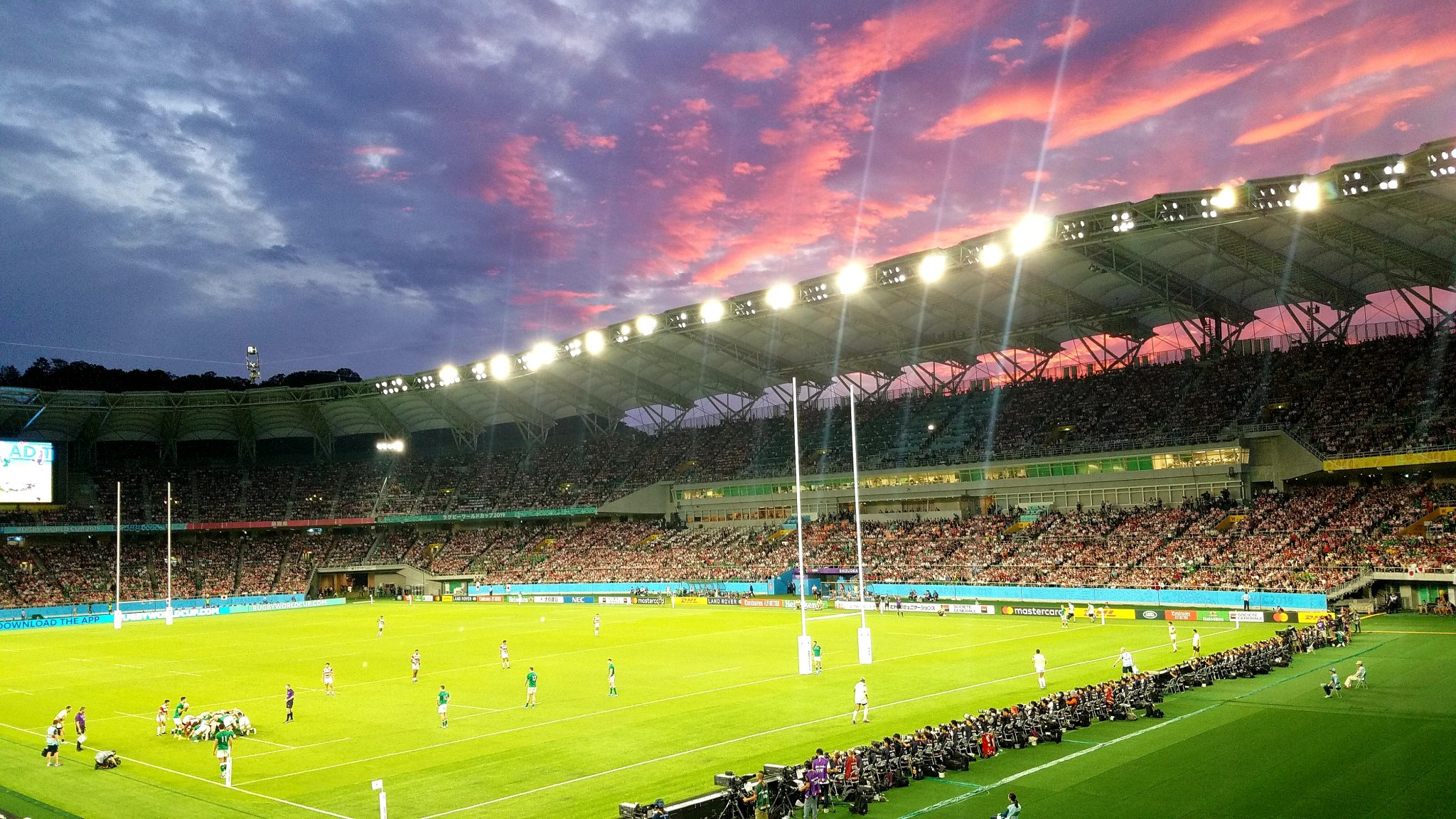 Shizuoka Stadium Ecopa on 28 September 2019 during the match when Japan beat Ireland 19-12