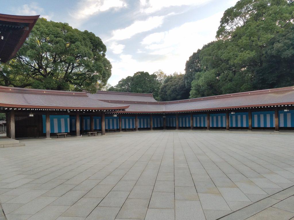 Empty Meiji Jingu Shrine