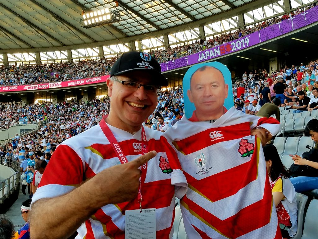 Mac and Eddie Jones. current England and Former Japan Rugby Manager!