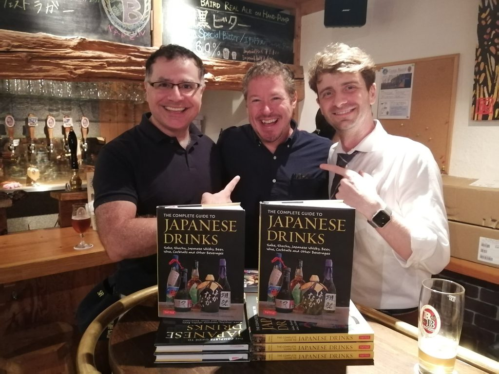 Mac, Founder of Maction Planet, Christopher Pellegrini and Stephen Lyman, author of The Complete Guide to Japanese Drinks