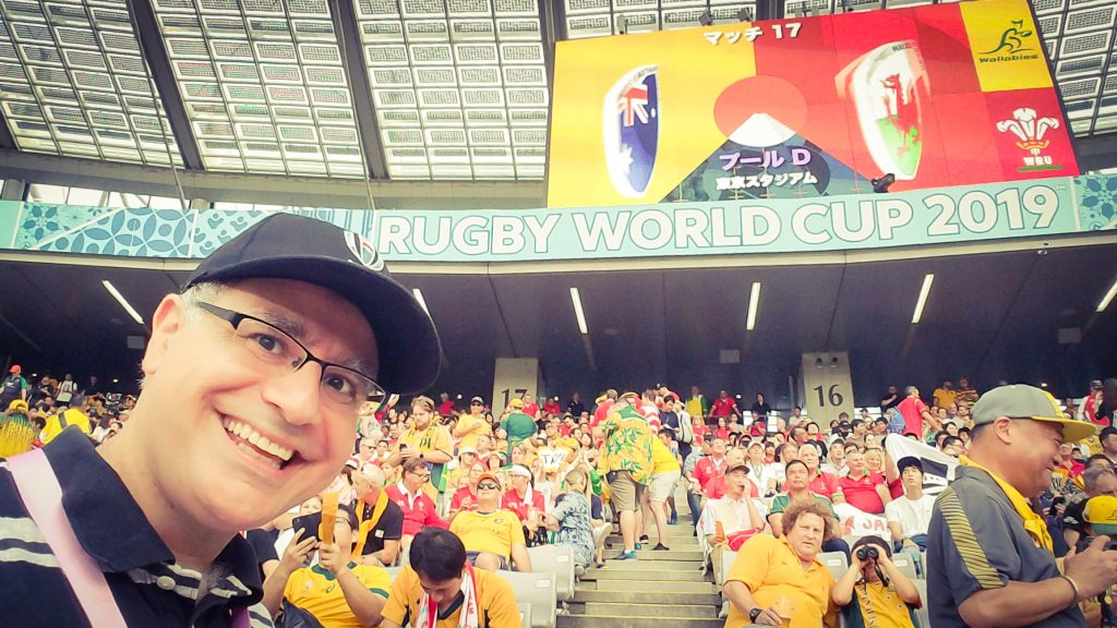 Mac at Australia vs Wales in the Rugby World Cup 2019 at Tokyo Stadium on 29 September 2019