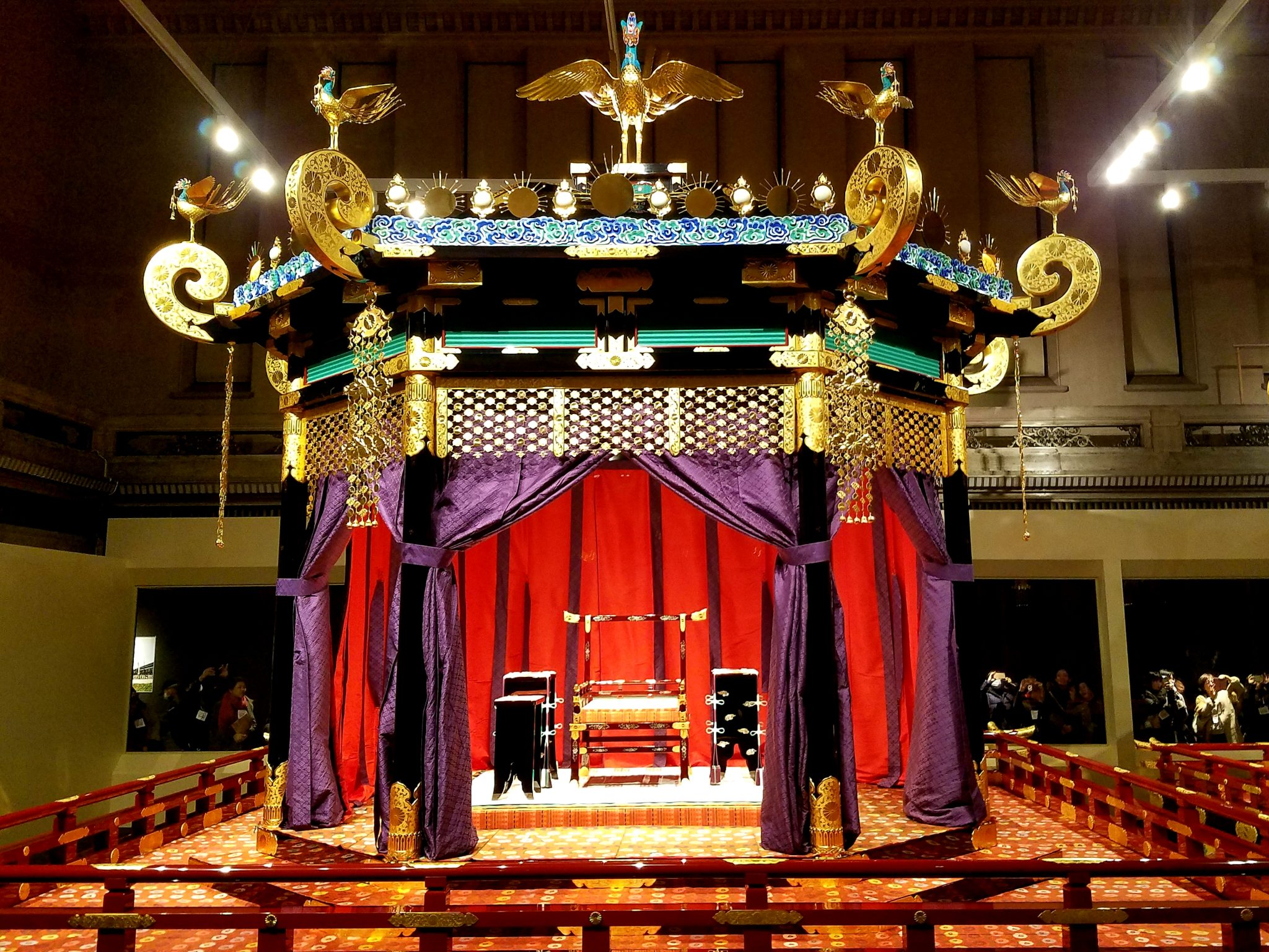 The Takamikura (Imperial Throne) used in the Sokuirei-Seiden-no-gi (Ceremony of the Enthronement of His Mejesty the Emperor at the Seiden)