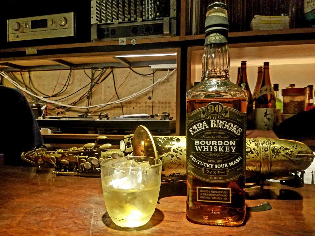 Ezra Brookes Bourbon Bottlekeep and Jazz in Tokyo